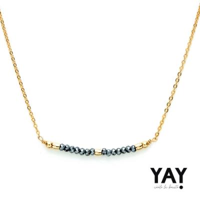 YAY You Are Young 法國輕珠寶品牌 Cleo 閃耀灰藍串珠寶石項鍊