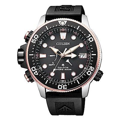 CITIZEN星辰 PROMASTER 限量30週年限定潛水錶-金BN2037-11E