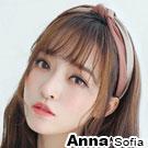 AnnaSofia 雙色交叉轉璇結 韓式寬髮箍(豆沙紅系)