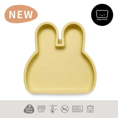 新加坡bopomofo 兔兔矽膠餐盤-奶油黃