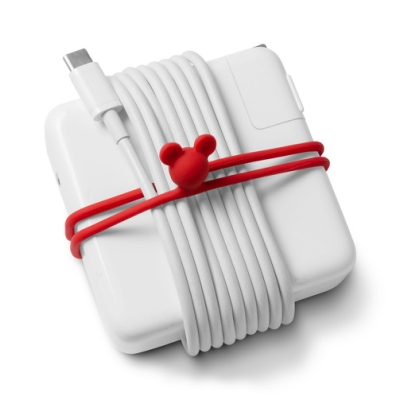 【BONE】雙環綁-電源線收納-米奇款(超值3入組)
