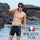 夏之戀TRAVEL FOX   大男數位印花五分泳褲