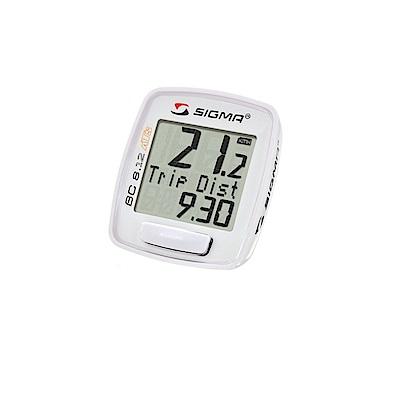 【SIGMA】BC 8.12 ATS 八項功能無線碼錶 白色