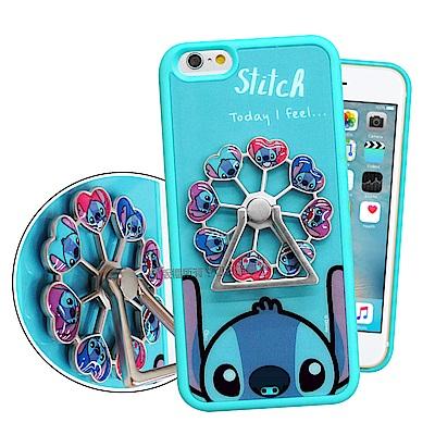 迪士尼 iPhone 6s Plus/6 Plus 摩天輪指環扣防滑支架手機殼(史迪奇)