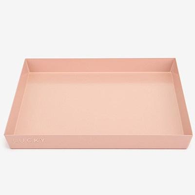 Dailylike 幾何創意桌面收納托盤-方形L-甜蜜粉