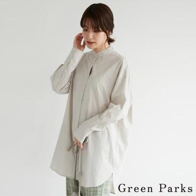Green Parks 定番素面長版襯衫上衣