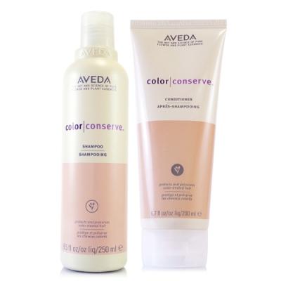 [時時樂限定] AVEDA 護色洗髮精250ml+護色潤髮乳200ml 贈專櫃保養試用包*1(隨機)