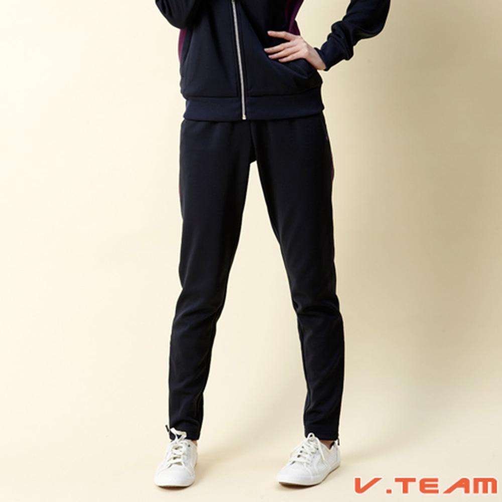 【V.TEAM】女款針織長褲-深藍