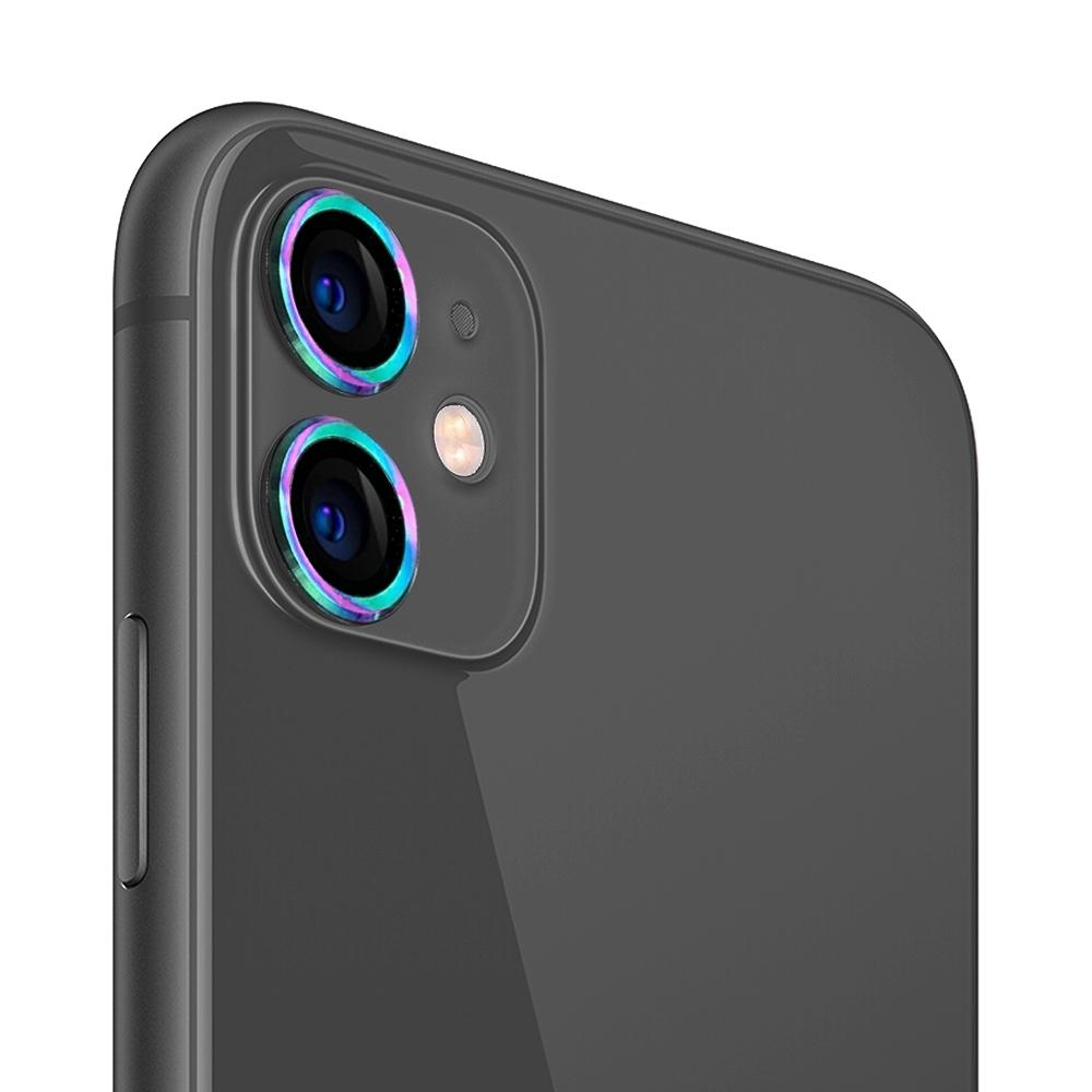 UNIQTOUGH iPhone11 航太鋁金屬框鏡頭保護鏡/鈦色(限量版)