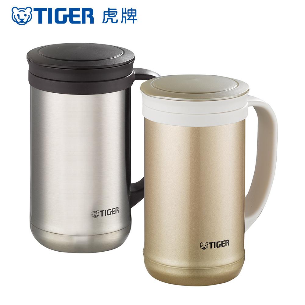 TIGER虎牌 500cc不鏽鋼保溫保冷辦公室杯_茶濾網(MCM-T050)