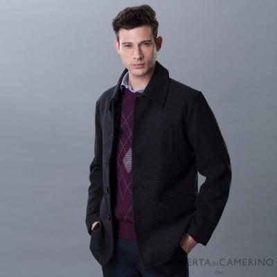 ROBERTA諾貝達 帥氣保暖 舒服羊毛夾克外套 黑色