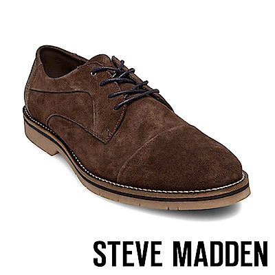 STEVE MADDEN-SOLEMN 絨面男士美式拼接式紳士鞋-絨咖