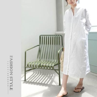2F韓衣-韓系素色優雅洋裝-2色-(S-XL)