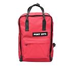 【PONY】運動休閒輕便方型拉鍊後背包 紅