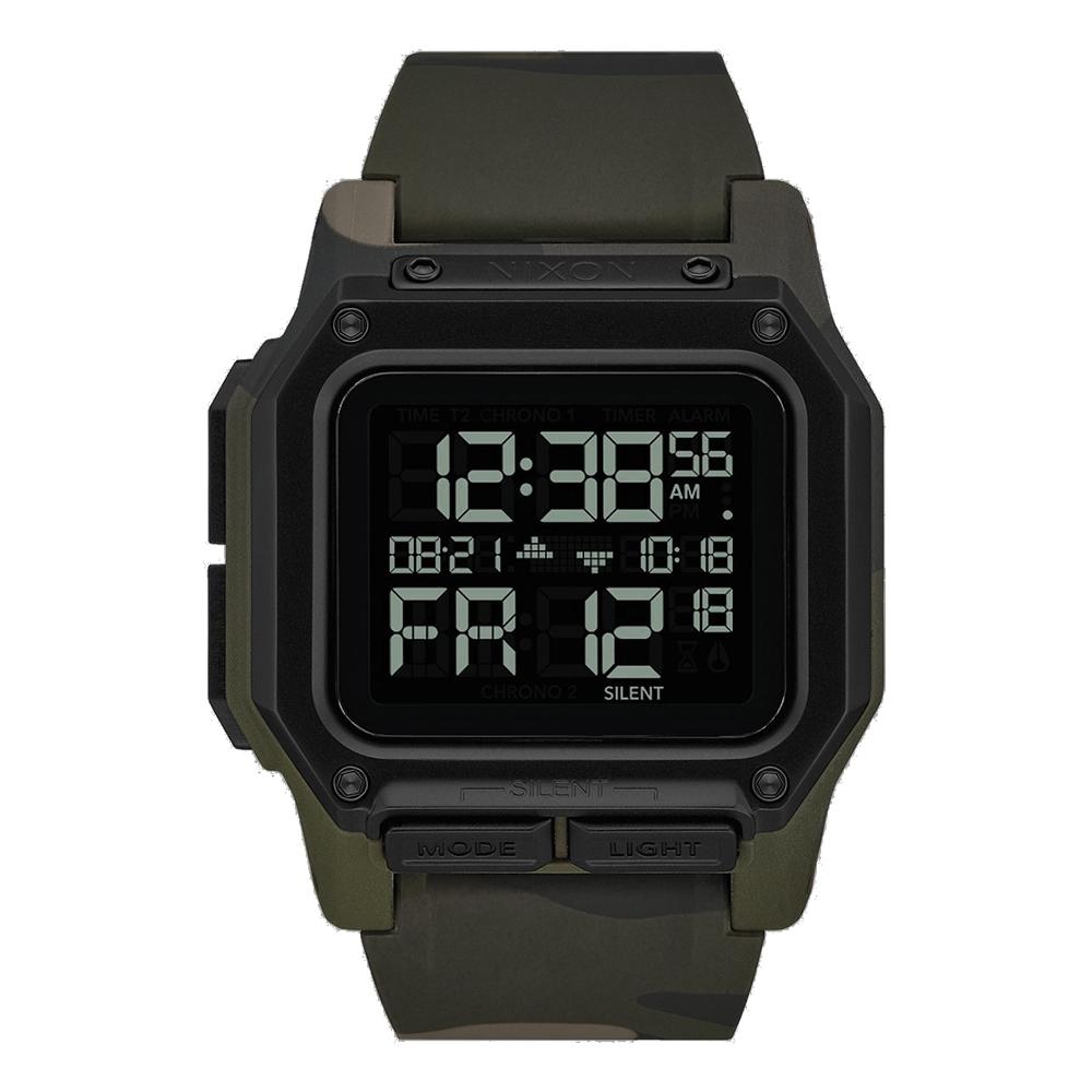 NIXON  時代科技多功能電子腕錶-深綠迷彩(A11803175)/46mm