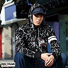 BIG TRAIN 幻空武將閃電紋帽T-男-黑色