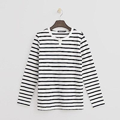 Hang Ten - 女裝 - 經典條紋T恤-白色