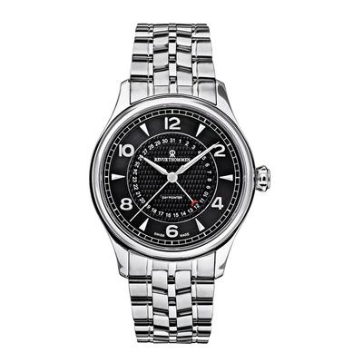 REVUE THOMMEN 梭曼錶 Specialities系列 自動機械腕錶 黑面x不鏽鋼鍊帶/42.5mm  (10012.2137)