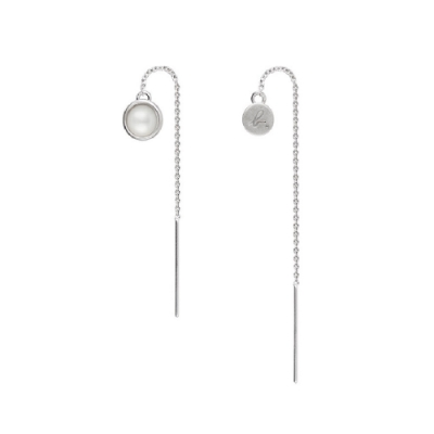agnes b.snap cardigan珍珠母貝垂墜飾耳環(女)