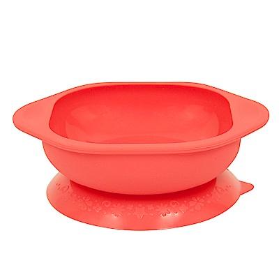 【MARCUS&MARCUS】動物樂園矽膠防漏幼兒學習吸盤碗-獅子(紅)