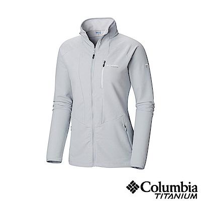 Columbia 哥倫比亞 女款-鈦 防潑彈性外套-灰色 UAR26480GY
