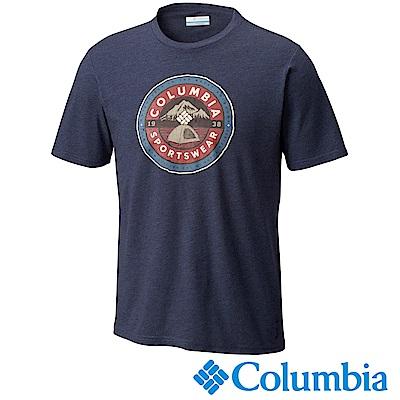 Columbia 哥倫比亞 男款-LOGO短袖上衣- UJO00150