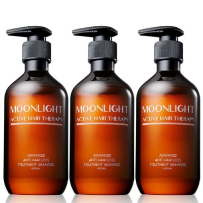 Moonlight 3%進化版健髮豐潤洗髮精 400mL x3