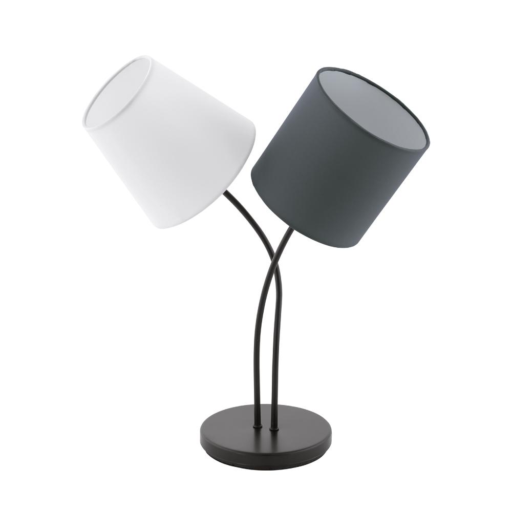 EGLO歐風燈飾 雙色布罩檯燈(不含燈泡)