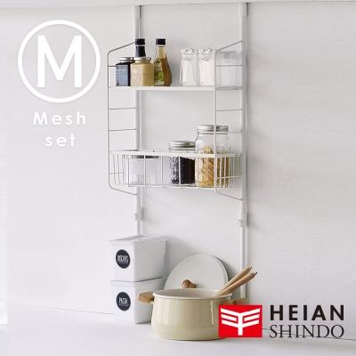 日本【平安伸銅 】SPLUCE廚衛收納籃層架(M)組合SPL-4 (超薄寬版)