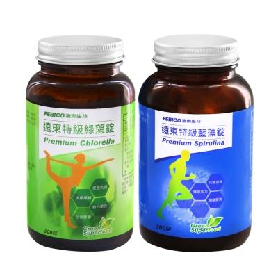 遠東生技 特級藍藻200mg*300錠+特級綠藻200mg*600錠(2瓶組)