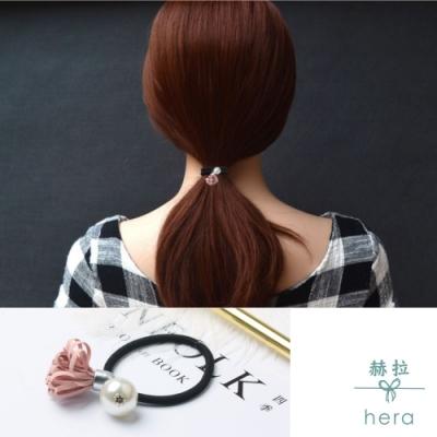 Hera 赫拉 流蘇珍珠鐵牌字母髮圈皮筋紮頭髮繩