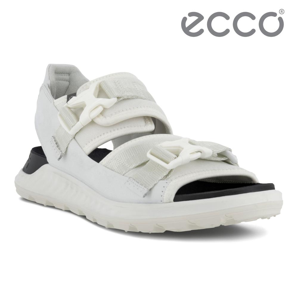 ECCO EXOWRAP W 突破皮革輕巧戶外運動涼鞋 女鞋 白色