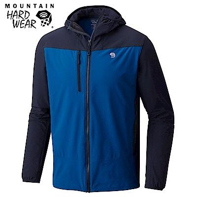 Mountain Hardwear 男款-防曬50防潑軟殼連帽外套-深藍