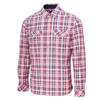 【WILDLAND荒野】男彈性格紋內刷毛保暖襯衫