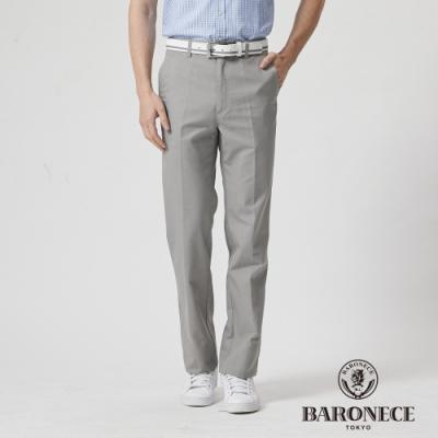 BARONECE 百諾禮士休閒商務  男裝 彈性雙色織紋平口休閒長褲-褐卡其色(1188896-45)