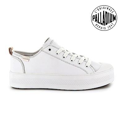 Palladium SUB LACE LTH低筒慢跑鞋-女-白