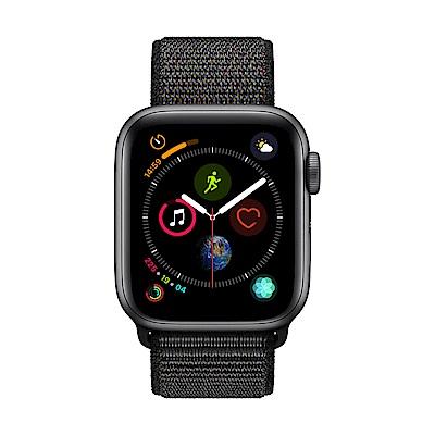 Apple Watch Series 4(GPS) 40mm太空灰色鋁金屬錶殼搭配黑色錶環