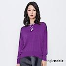 獨身貴族 都會指標艷彩落肩設計針織衫(4色)