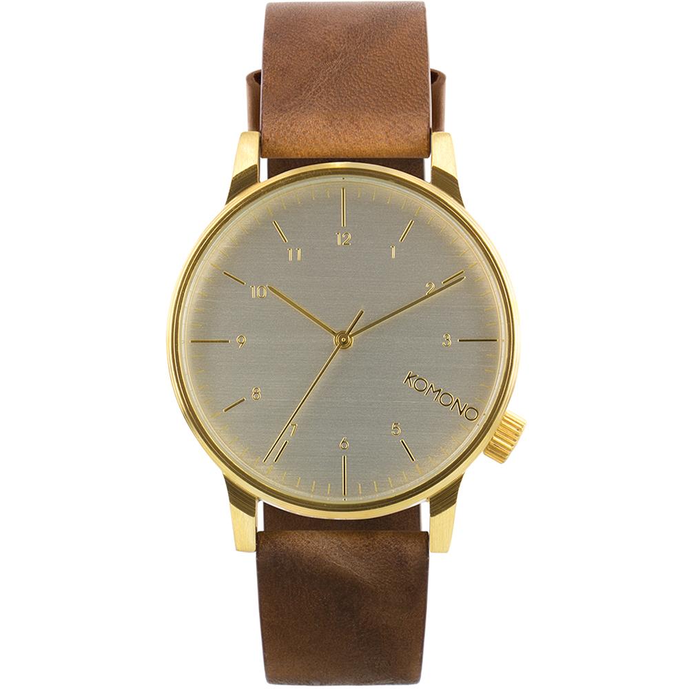 KOMONO Winston Regal 腕錶-布朗棕/41mm
