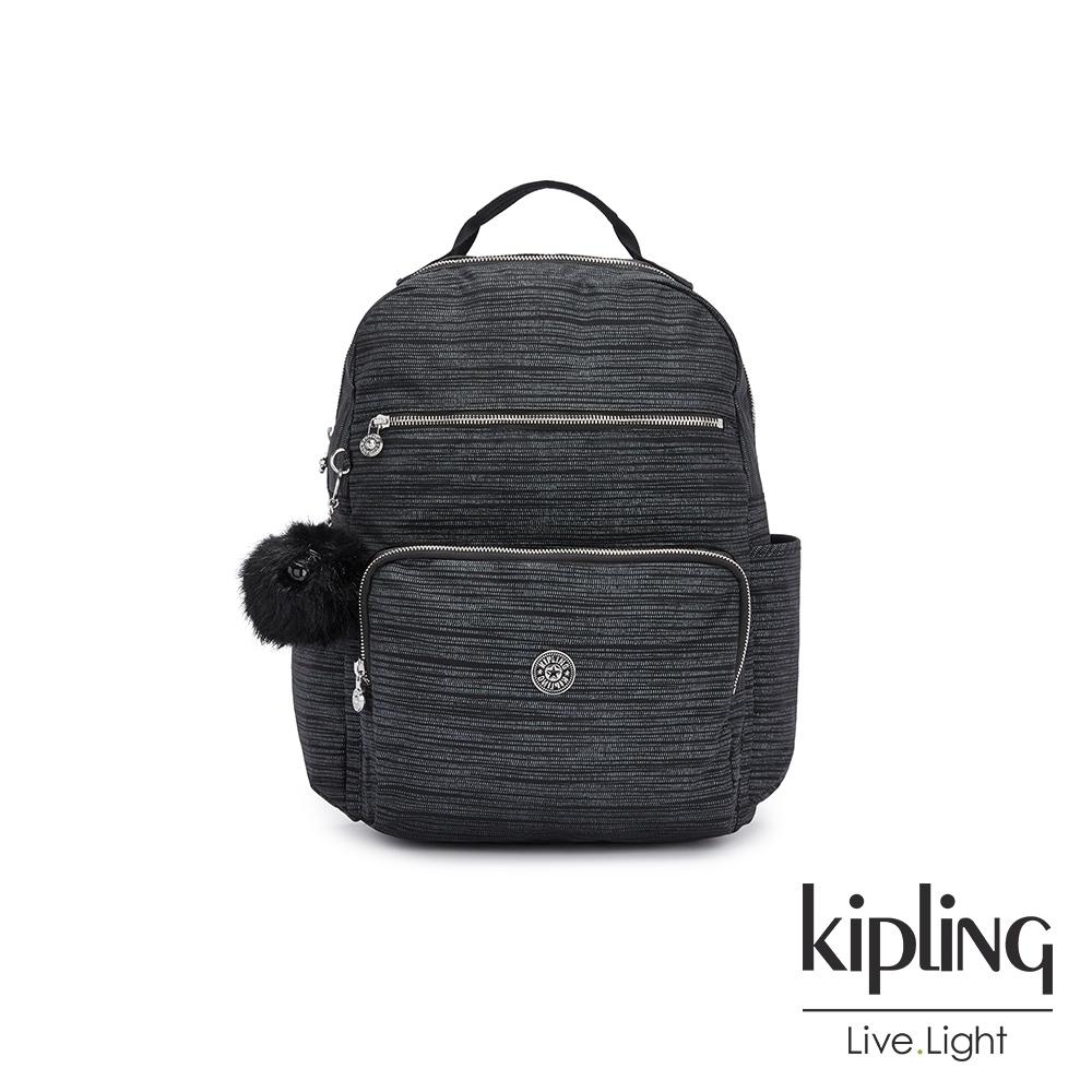 Kipling 沉穩十字條紋大容量媽媽包-SO BABY