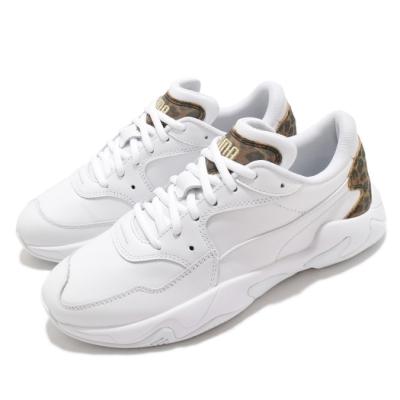 Puma 休閒鞋 Storm Leo Wns 運動 女鞋 海外限定 舒適 簡約 球鞋 穿搭 白 棕 37261202