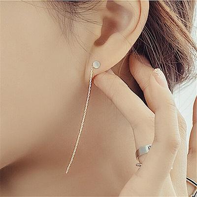 梨花HaNA 韓國925銀針知道妳愛簡單小圓豆耳線耳環