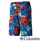 Columbia 哥倫比亞 童款-防曬30快乾海灘褲-藍花紋 UAB46630