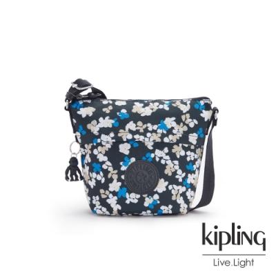 Kipling 清新手繪碎花大開口簡約肩背包-SONJA S