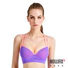 Mollifix瑪莉菲絲 高調A++溝溝立現美胸背心_(撞色亮紫+桃)
