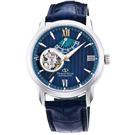 ORIENT東方STAR東方之星真皮機械錶手錶RE-DA0001L-藍綠/39mm