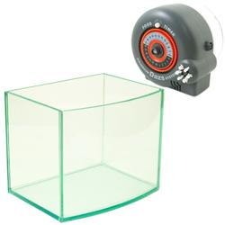 《台製》高透析海灣5mm空缸(一尺)+24小時自動餵食器(單日可餵食6次)