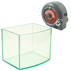 《台製》高透析海灣5mm空缸(8吋)+24小時自動餵食器(單日可餵食6次)