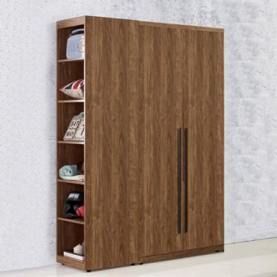 D&T 德泰傢俱 DINO清水模風格3.6尺單吊+側邊開放衣櫃-110x57x202cm