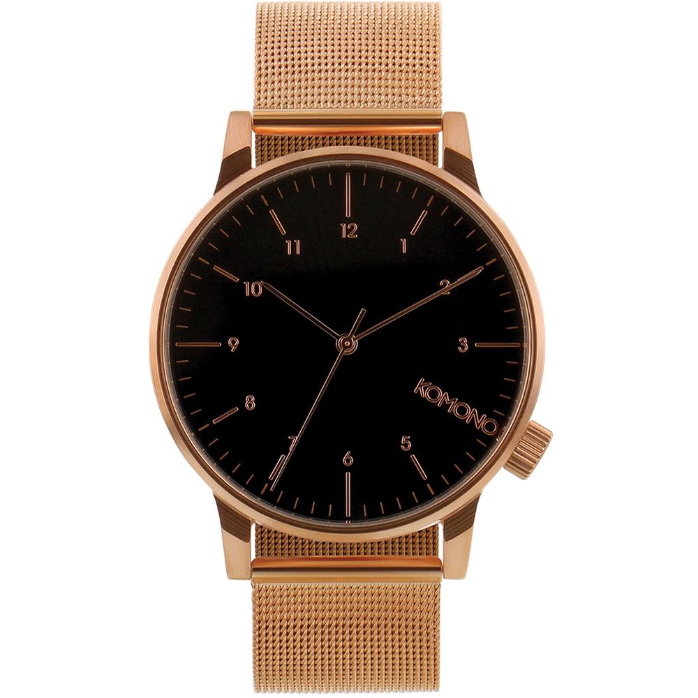 KOMONO Winston Royale 腕錶-玫瑰金x黑/41mm